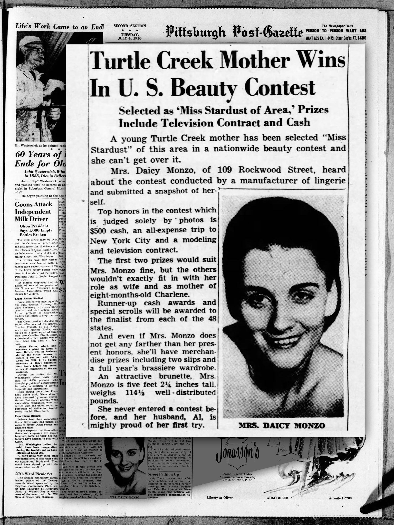 Daisy Monzo wins US Beauty Contest article