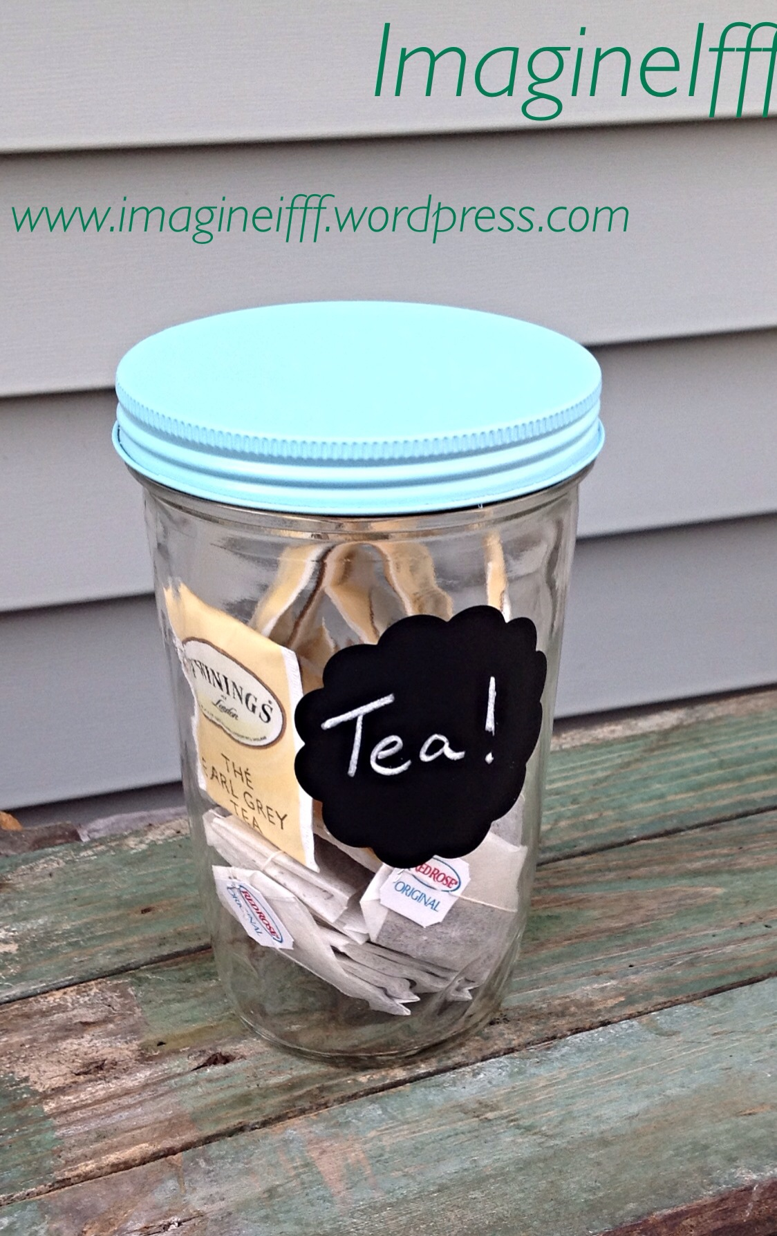 Organize with old glass jars!