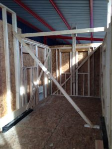 Countryside Progress Phase 1 - Interior with flooring, framing, and insulation