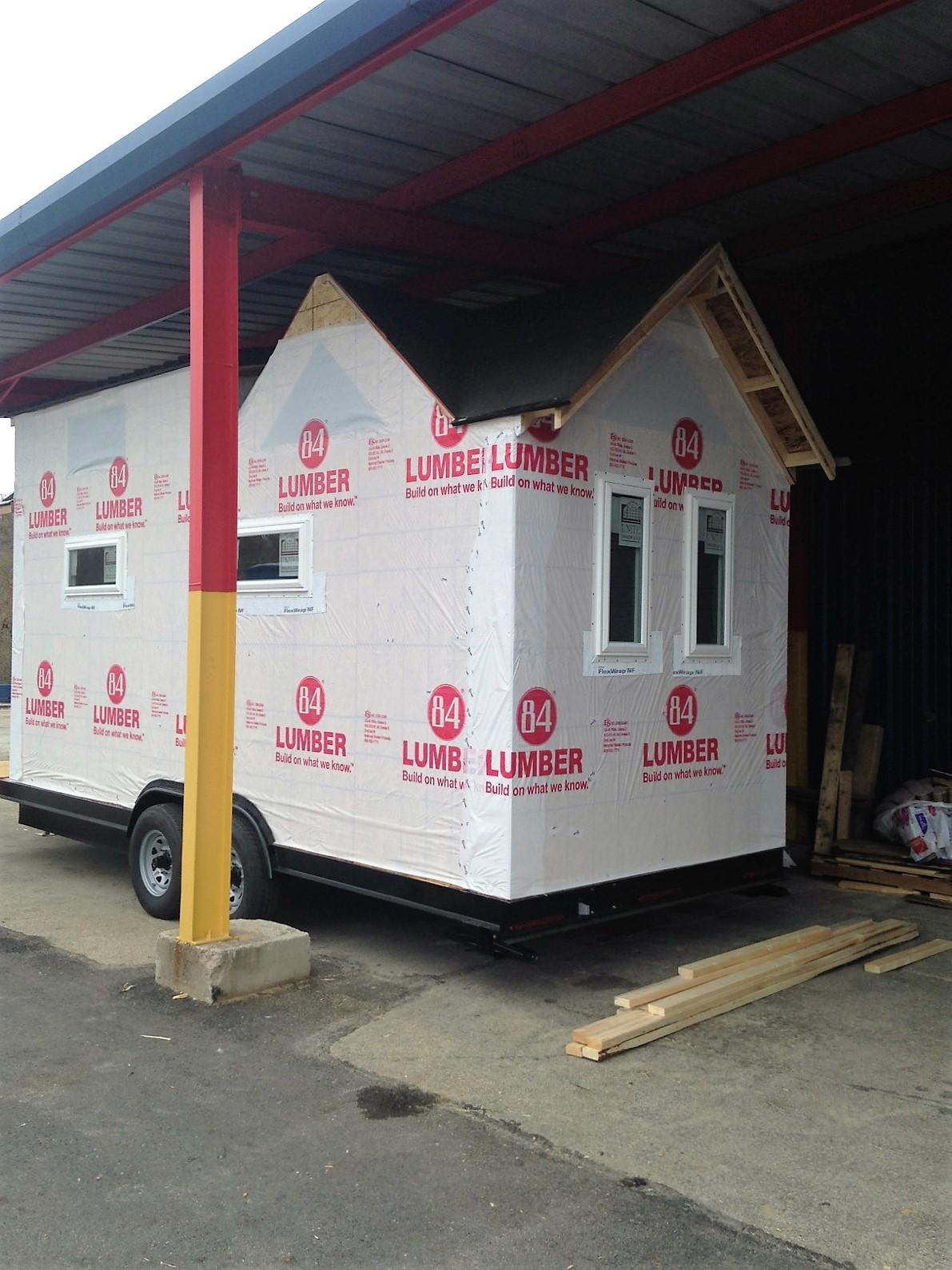 tiny house progress photos