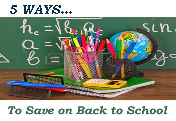 5 Ways … To Save on Back to School