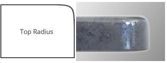top radius countertop edge profile