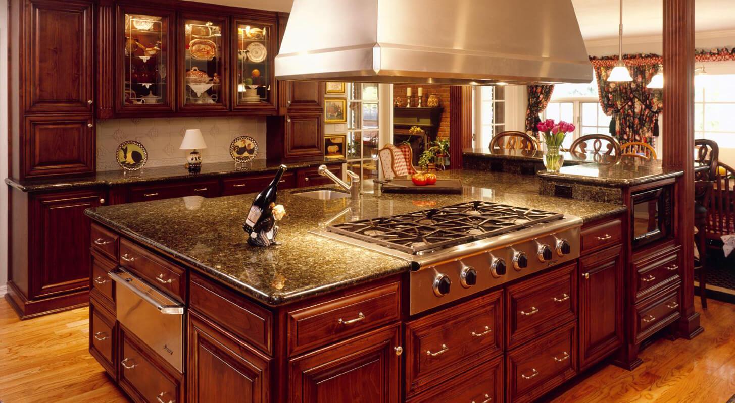 Granite countertop in the modern kitchen