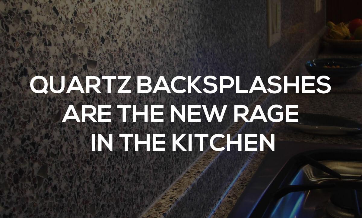 quartz backsplash