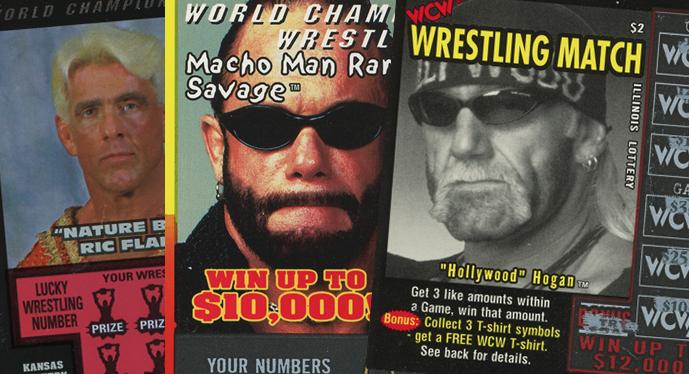 Weird Merch: WCW Scratch-Off Lottery Tickets [1999] - WCW