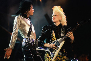 1987, Tokyo, Japan --- Michael Jackson and Jennifer Batten Performing