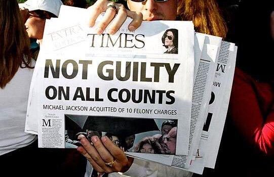 MJ not guilty