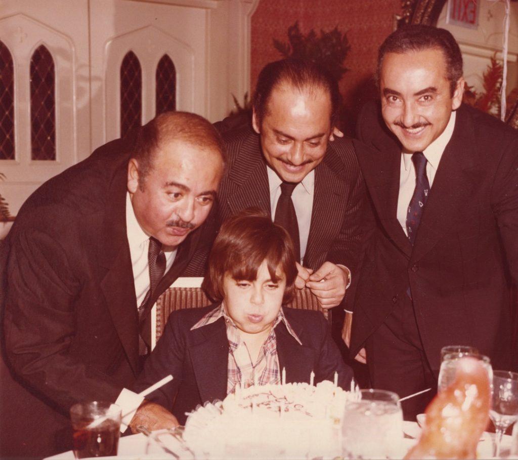 Adnan Khashoggi with Karim Khashoggi, Essam Khashoggi, and Adil Khashoggi