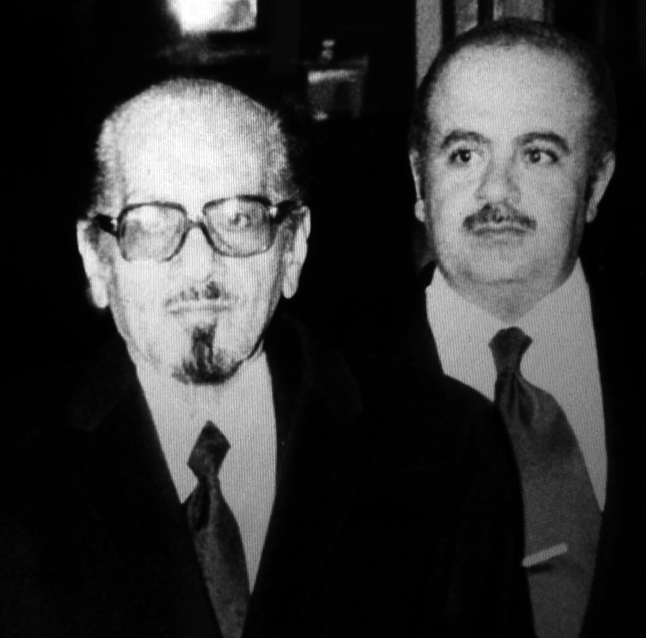 Adnan Khashoggi with father Dr. Mohammed Khashoggi