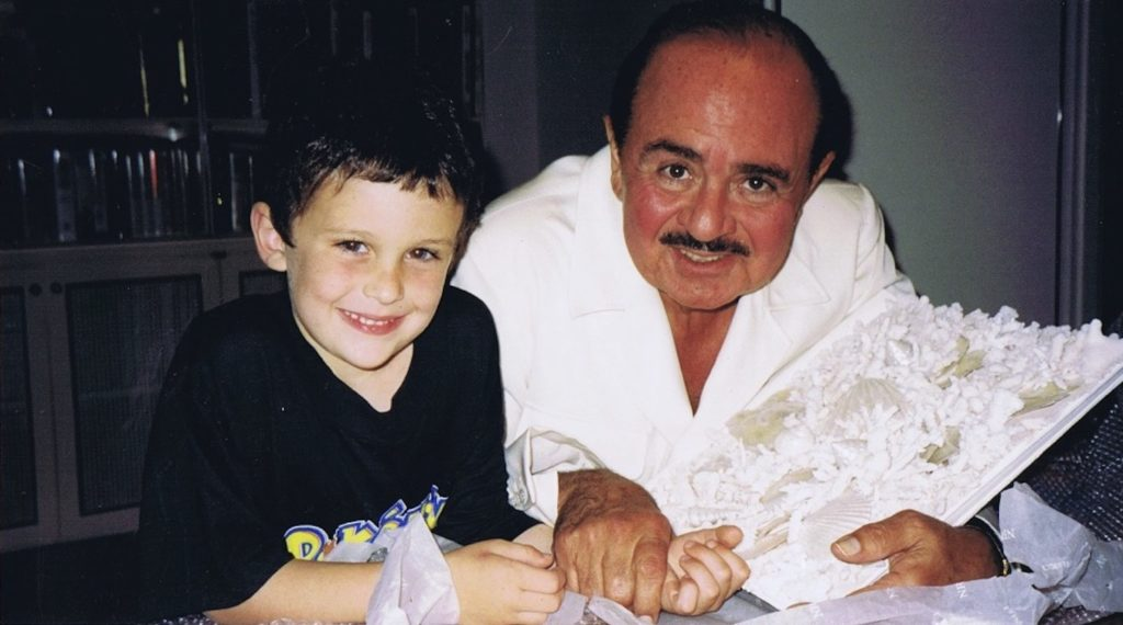 Adnan Khashoggi with grandson Spartan Daggenhurst