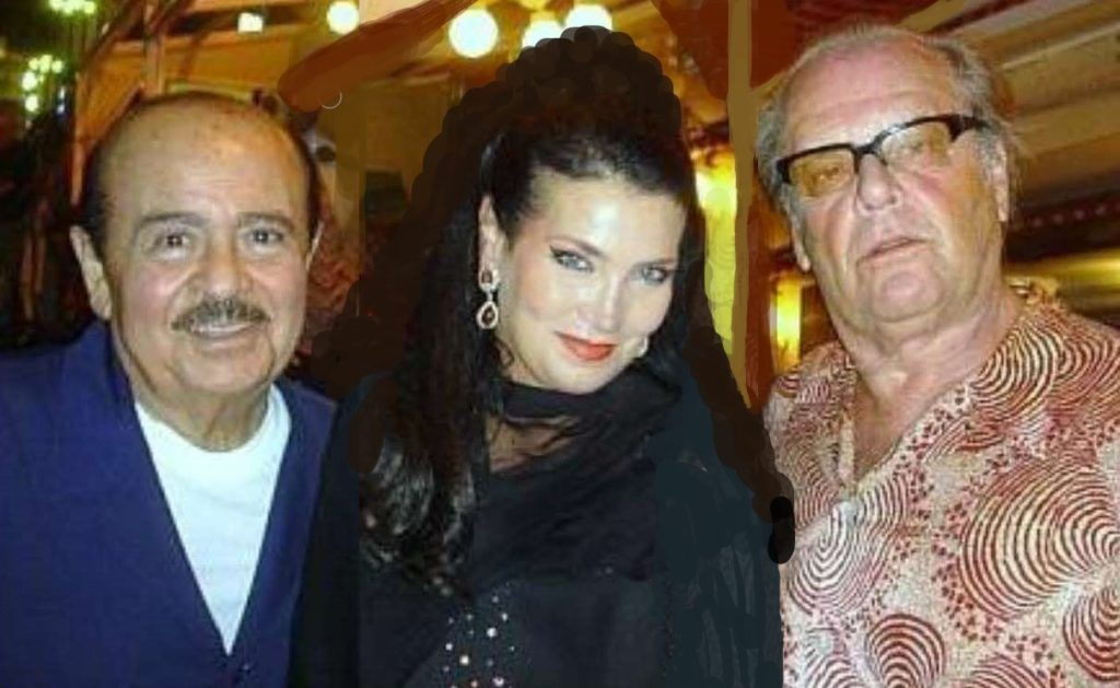 Adnan Khashoggi with Jack Nicholson and Lamia Khashoggi