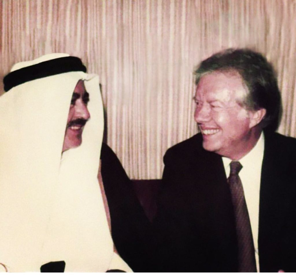 Adnan Khashoggi with Jimmy Carter President of the United States