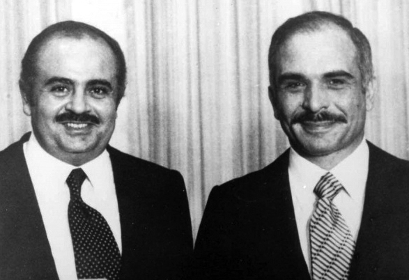 Adnan Khashoggi with King Hussein of Jordan