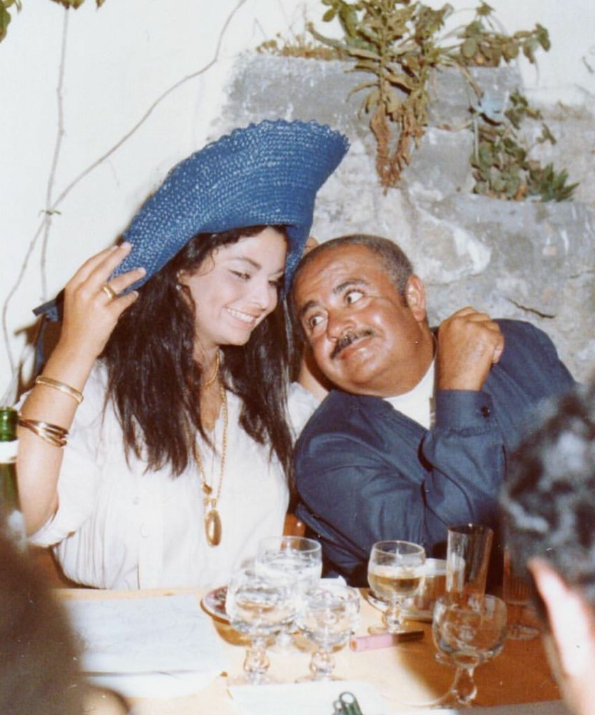 Adnan Khashoggi with daughter Nabila Khashoggi