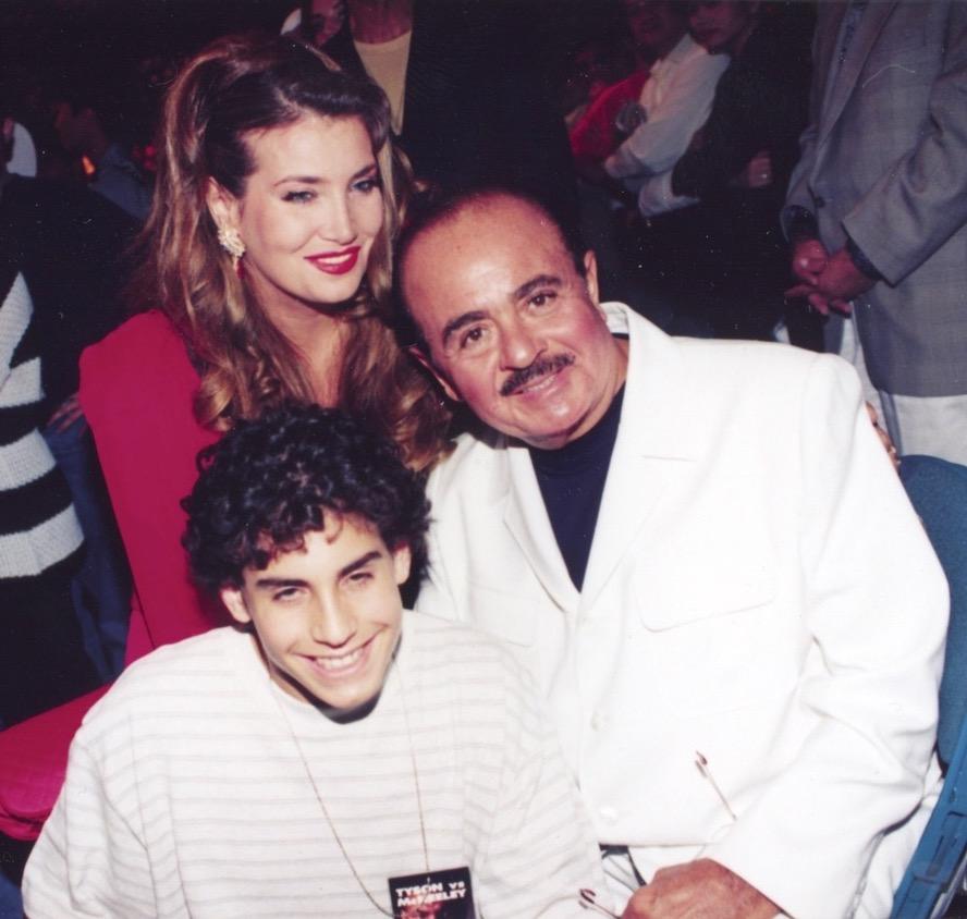 Adnan Khashoggi with son Ali Khashoggi and Lamia Khashoggi