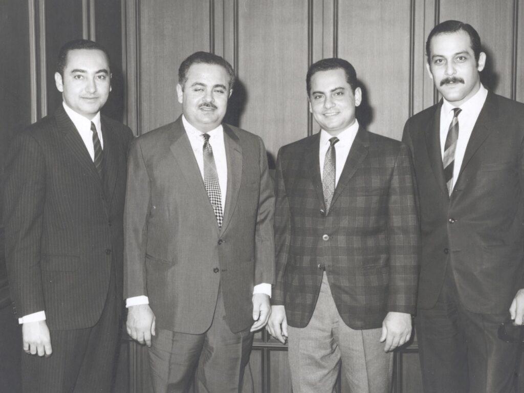 Adnan Khashoggi and brothers Adil Khashoggi and Essam Khashoggi