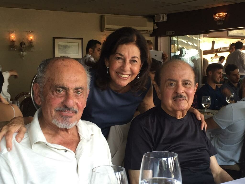 Adnan Khashoggi and brother Essam Khashoggi and sister Soheir Khashoggi