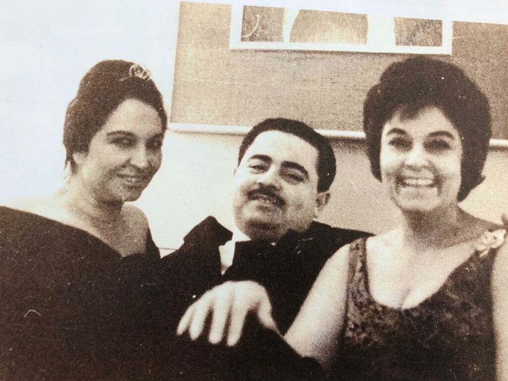 Adnan Khashoggi, Aunt Bashira Yassin, and Mother Samiha