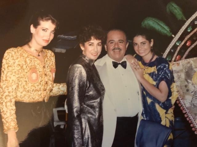 Adnan Khashoggi, Lamia Khashoggi, Nabila Khashoggi, and Soheir Khashoggi