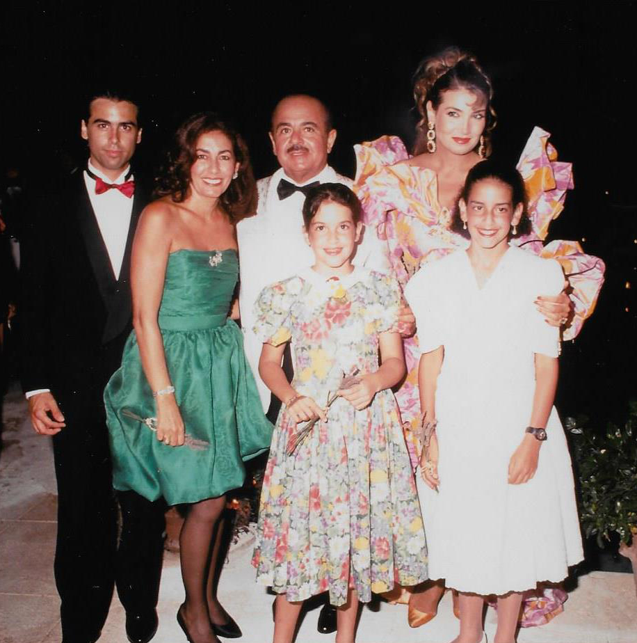 Adnan Khashoggi, Nabila, Hussein, Soheir, and Nieces