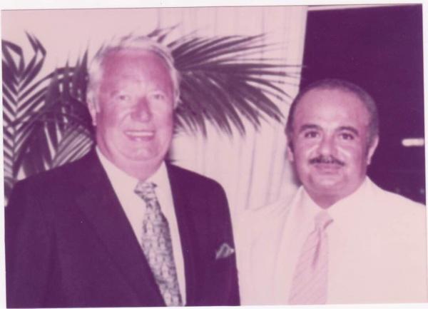 Adnan Khashoggi and Sir Edward Heath