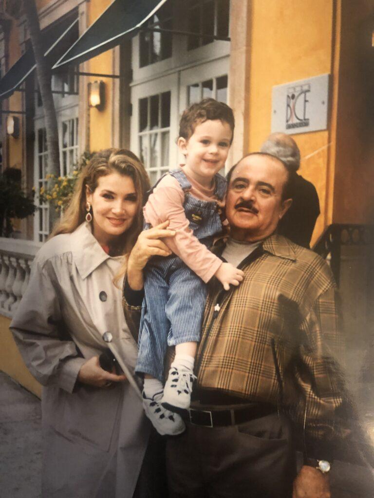 Adnan Khashoggi and Lamia Khashoggi with Grandson Spartan Daggenhurst