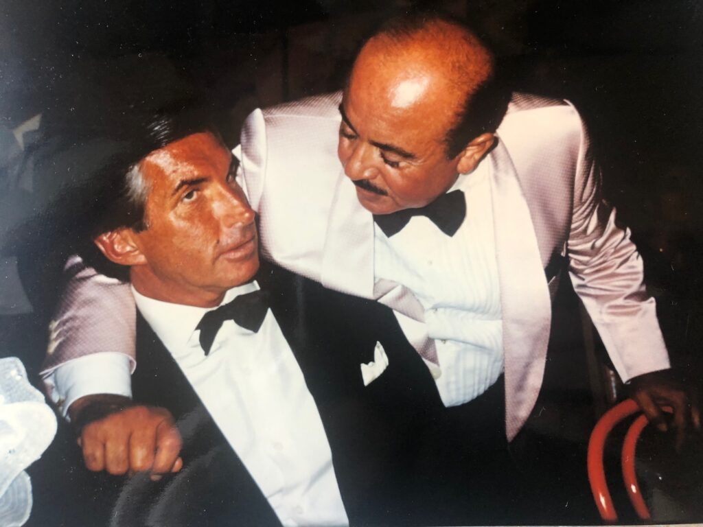 Adnan Khashoggi and George Hamilton