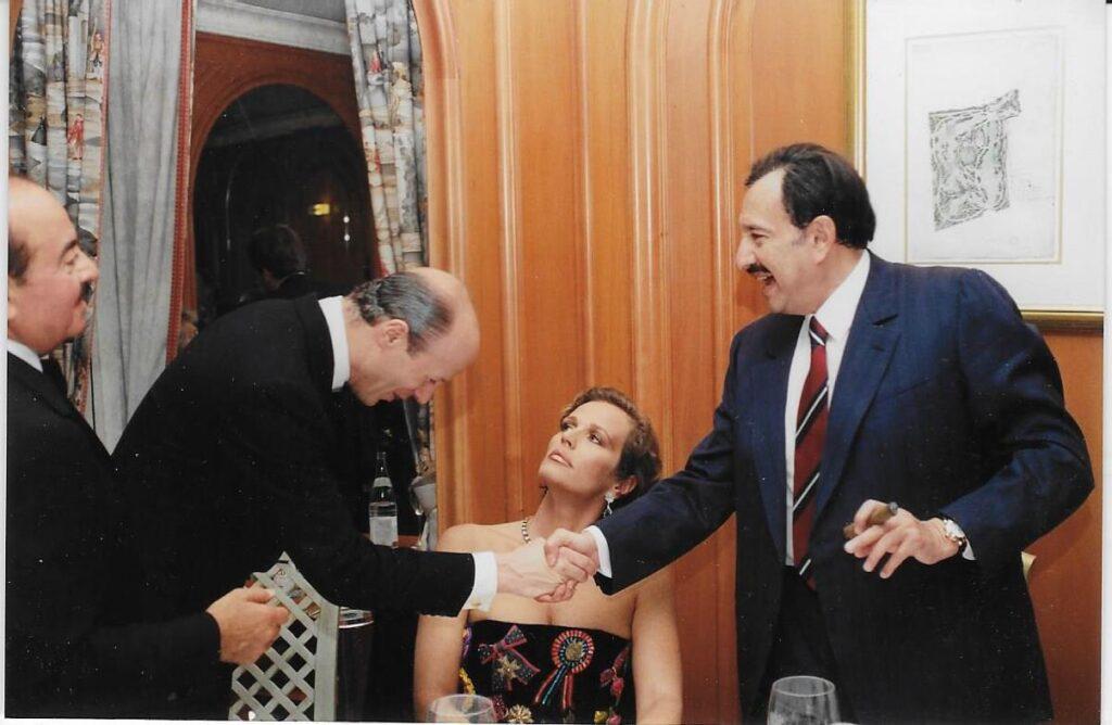 Adnan Khashoggi with HRH Prince Nawwaf bin Abdulaziz Al Saud