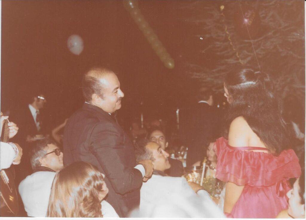 Adnan Khashoggi with Adil Khashoggi and Nabila Khashoggi
