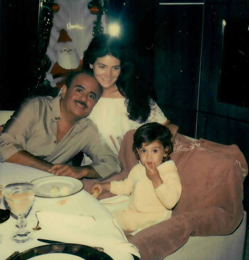 Adnan Khashoggi with Lamia and son Ali