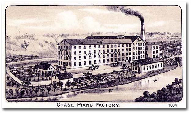 1884 image of Chase Piano Factory