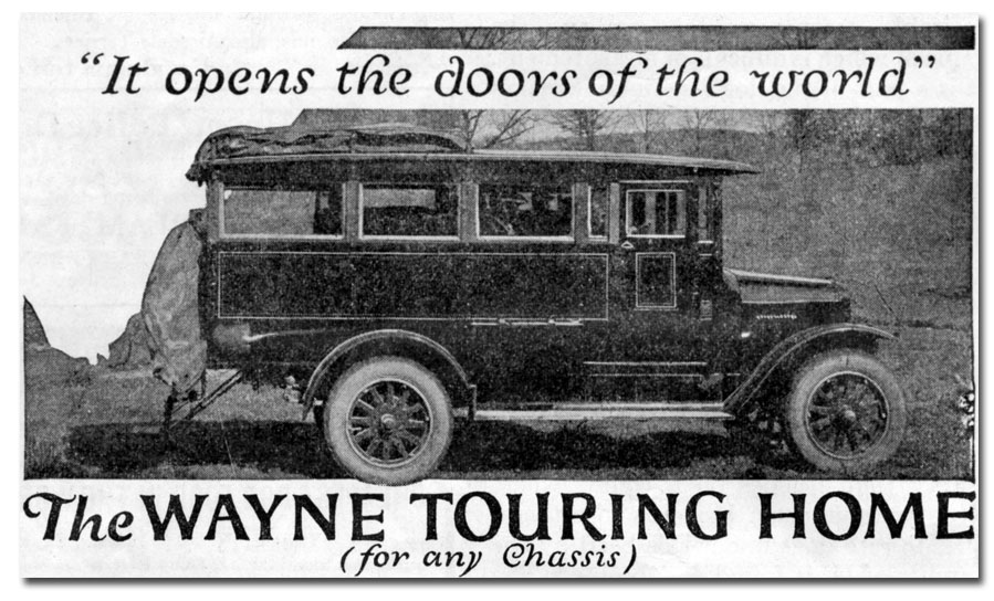 Wayne Touring Home ad from 1923