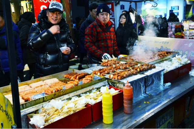 TRAVELS: STREET FOOD IN MYEONG-DONG, Seoul, Korea