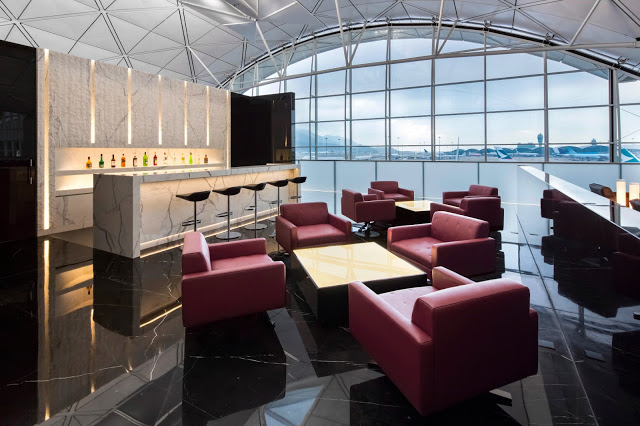CATHAY PACIFIC'S THE WING FIRST CLASS LOUNGE Hong Kong International Airport