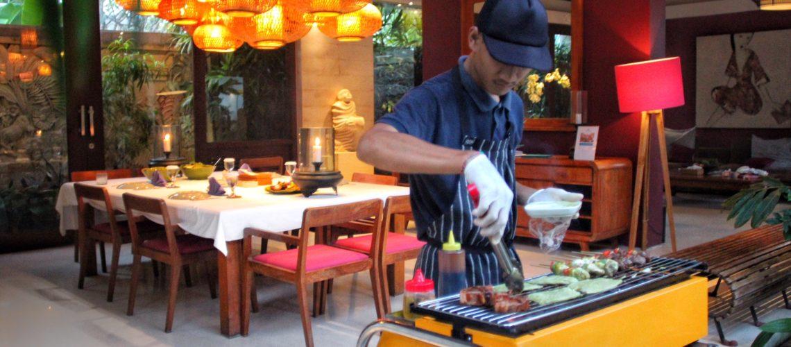 IN-VILLA BBQ Chandra Bali Villas