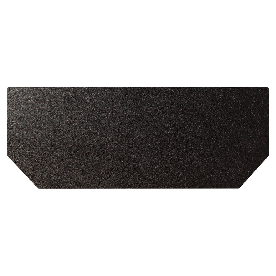 Ember King textured black hearth extension