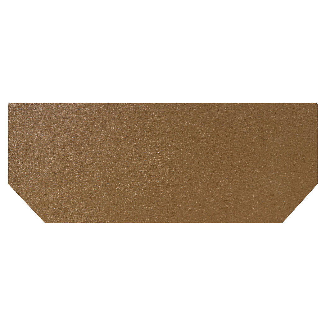 Ember King textured bronze hearth extension