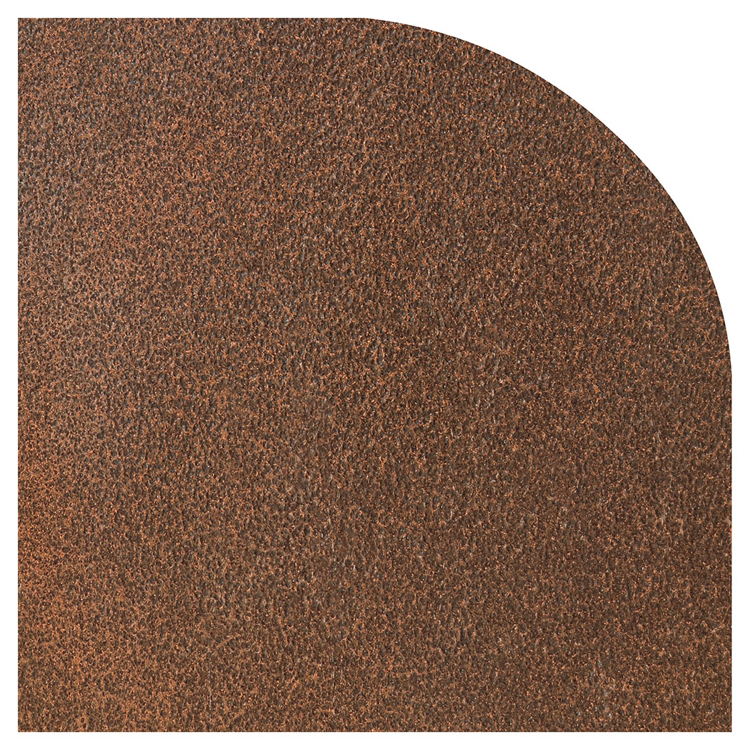 Ember King cocoa vein rounded corner hearth pad