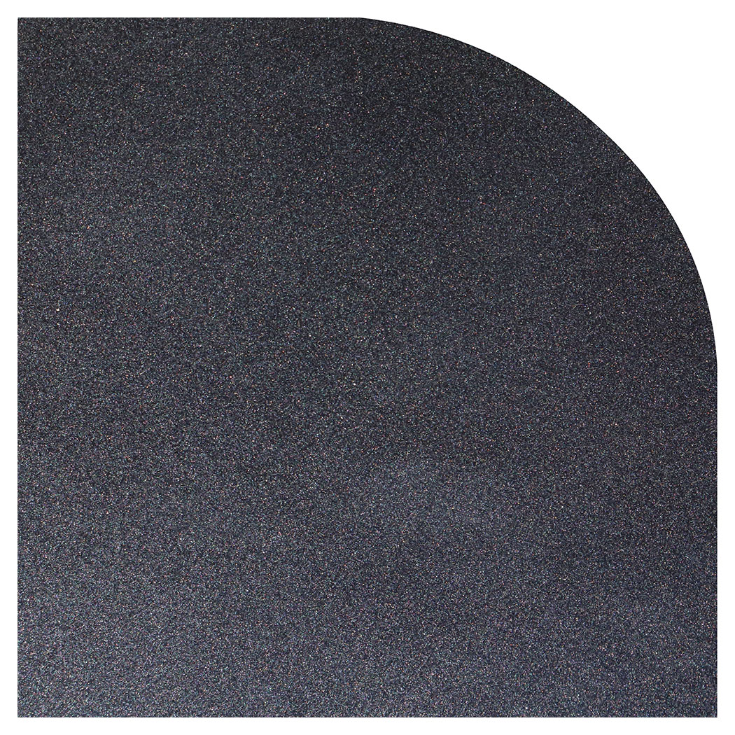 Ember King silver shadow rounded corner hearth pad