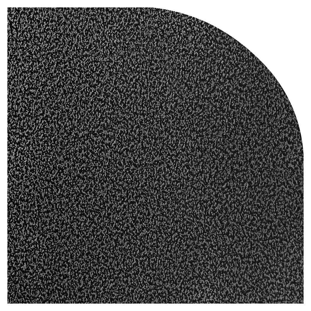 Ember King silver vein rounded corner hearth pad