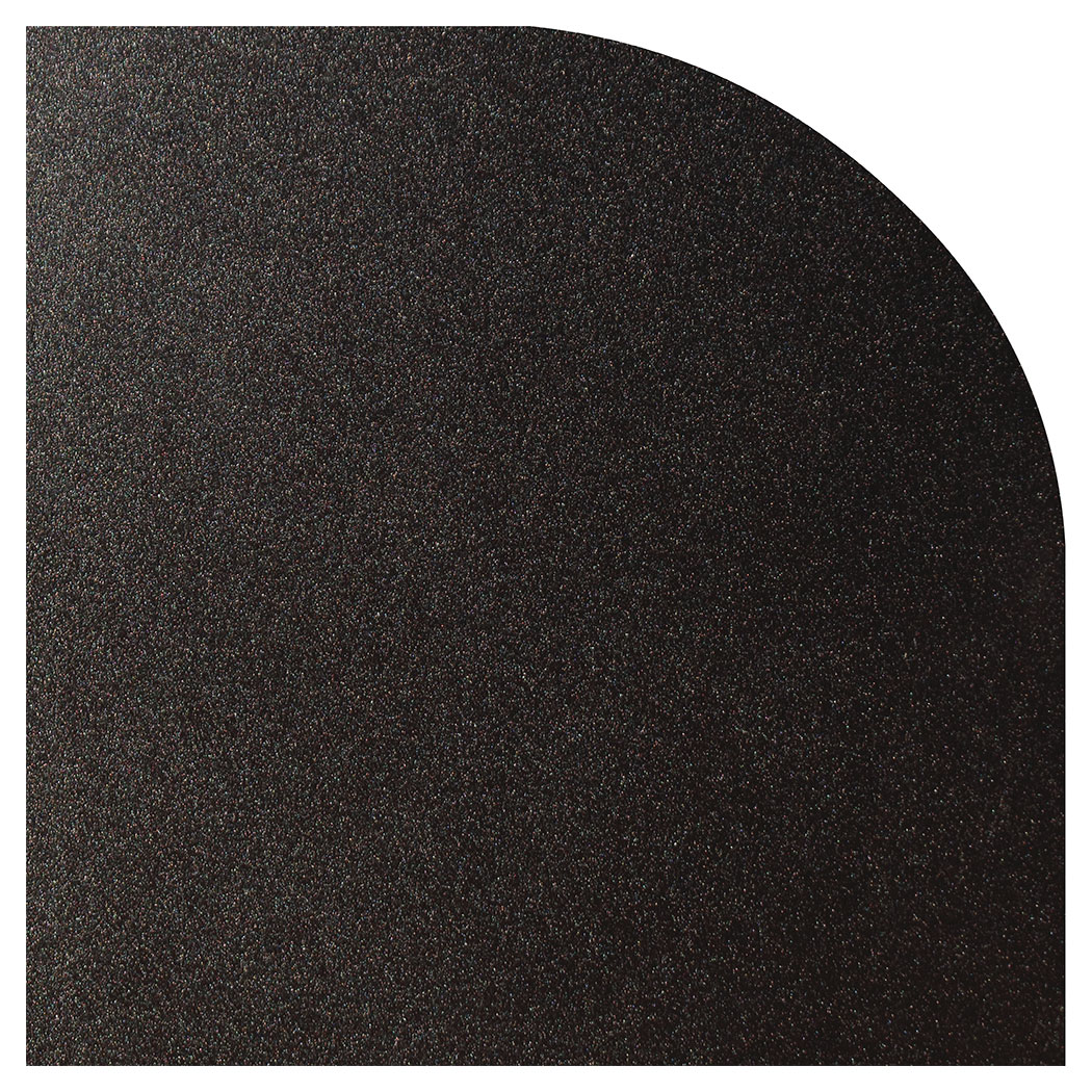 Ember King textured black rounded corner hearth pad