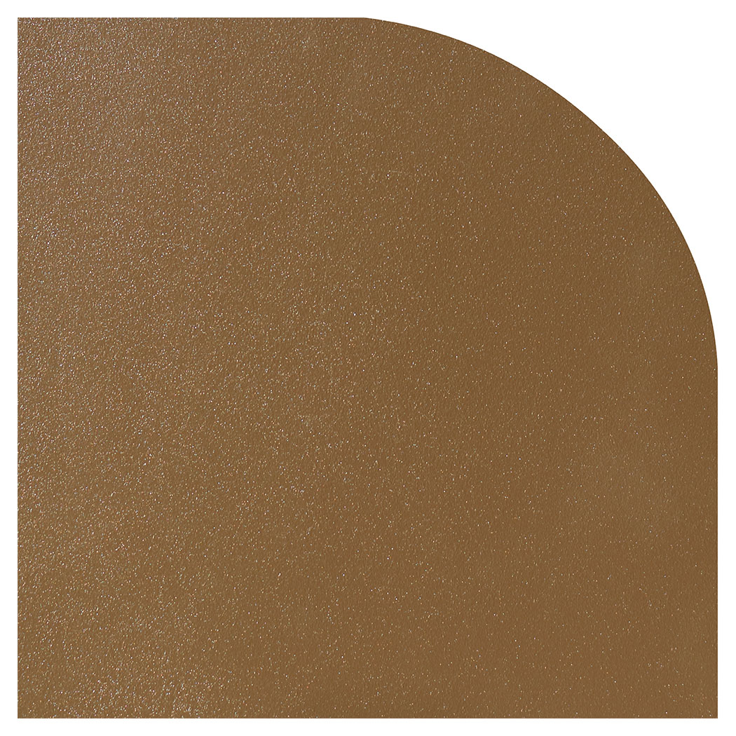 Ember King textured bronze rounded corner hearth pad