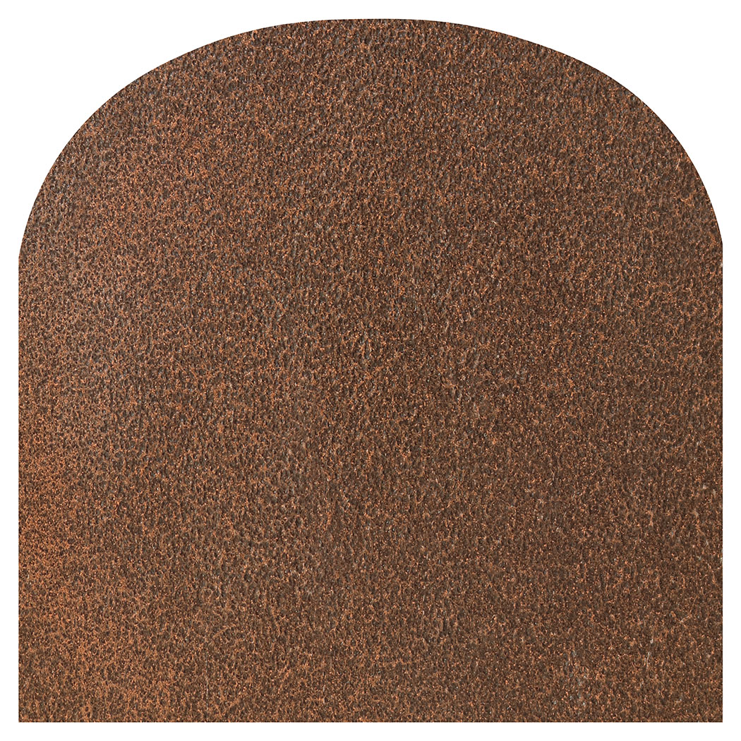 Ember King cocoa vein rounded front hearth pad