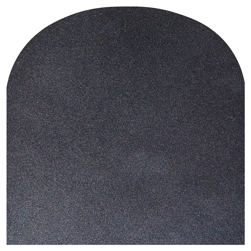 Ember King silver shadow rounded front hearth pad