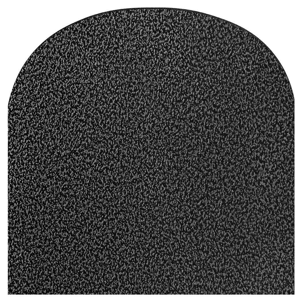 Ember King silver vein rounded front hearth pad