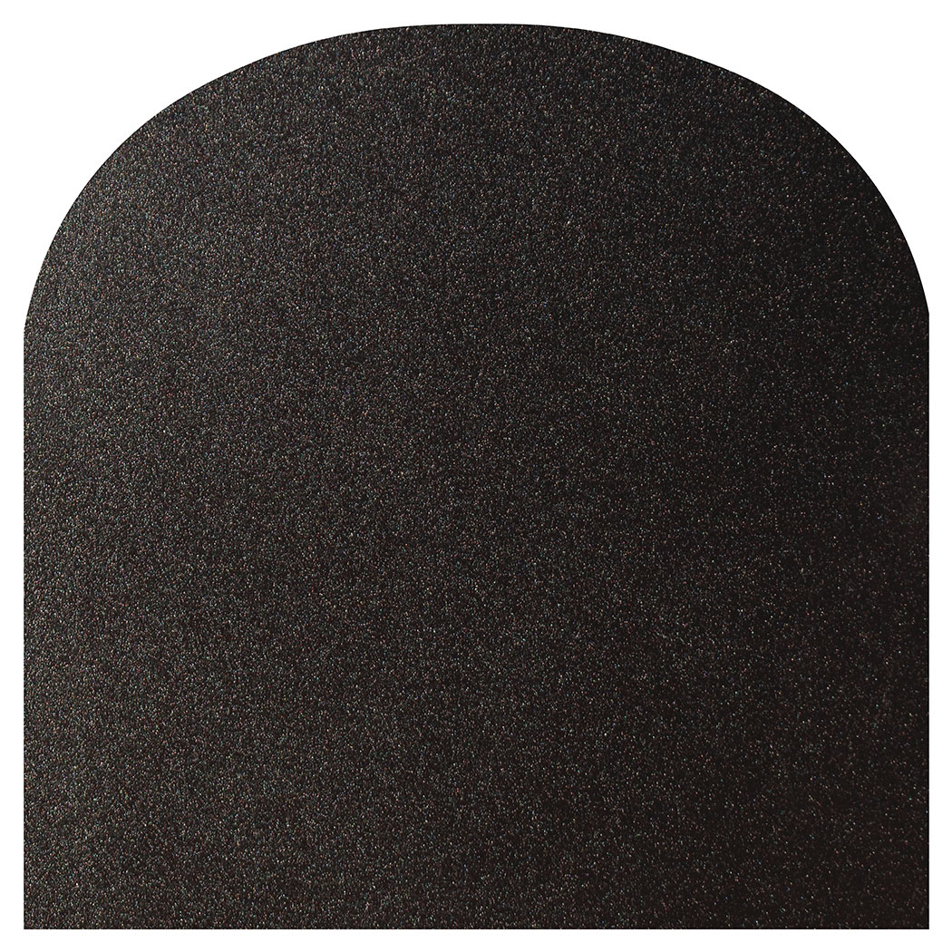 Ember King textured black rounded front hearth pad