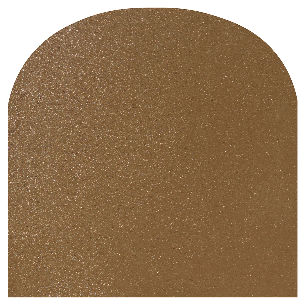 Ember King textured bronze rounded front hearth pad
