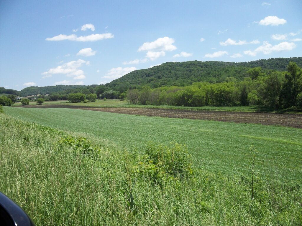 Section of farm land