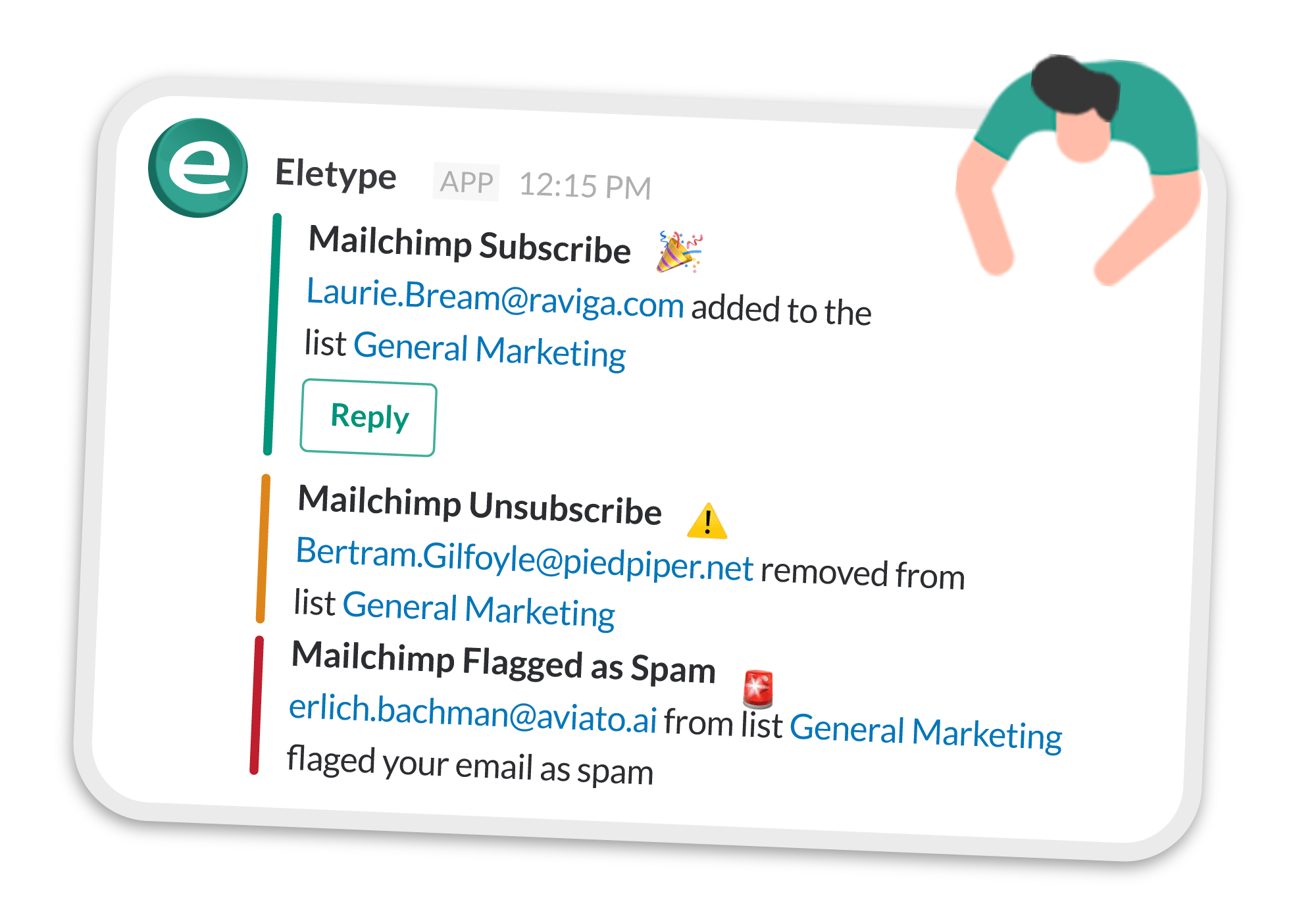 Eletype Mailchimp Real-Time Notifications