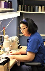 Lucy Jeon is based at Bibbentuckers Preston-Forest store and brings decades of experience with a variety of custom clothing and alterations projects.